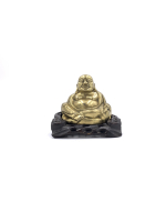 COLLECTION OF FIVE METAL LAUGHING BUDDHA STATUE