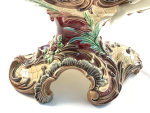 MAJOLICA CENTREPIECE IN FORM OF NAUTILUS SHELL, 19TH CENTURY, ITALY
