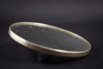 Rene Lalique Deux Chevres hand mirror green stained