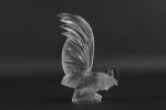 R Lalique Coq nain car mascot