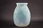 Rene Lalique Borromee opalescent vase