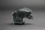 Rene Lalique grey/green sanglier mascot