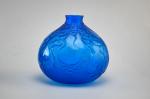 Rene Lalique electric blue Courges vase