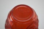 Rene Lalique Red ronces vase