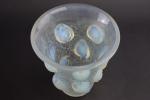 Rene lalique opalescent St Francois vase