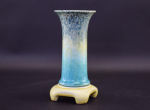 Ruskin pottery lily vase with stand
