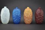Rene lalique electric blue Ronces Vase