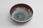 Ruskin Pottery small high fired flambe bowl