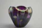 Loetz streifen und Flecken iridescent glass vase
