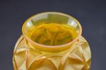 Rene Lalique Chamois amber glass vase