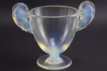 Rene Lalique Belier opalescent vase