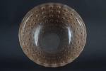 Rene Lalique Nemours bowl sepia stained with black enamel