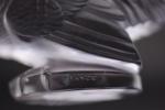 R Lalique Coq nain car mascot with Amethyst tint