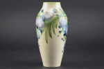 William Moorcroft Wisteria on white vase
