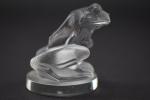 R Lalique Grenuoille frog car mascot