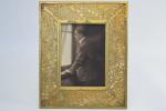 Tiffany Studio pine needle design photograph  frame