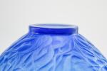 Rene Lalique electric blue Gui vase