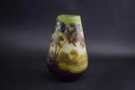 Galle cameo glass landscape vase