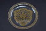 Rene Lalique sepia stained Chasse Chiens plate