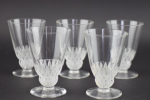 Lalique champigny shot glasses x5