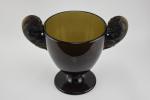 Rene Lalique Topaz Belier vase