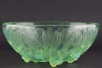 Rene Lalique mint opalescent No 2 Gui bowl