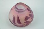 Galle small cameo glass purple vase