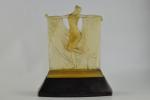 Rene Lalique Amber suzanne statuette