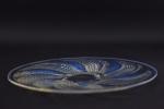 Rene Lalique opalescent Fleurons plate