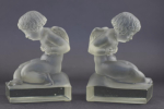 Rene lalique Amour Bookends