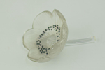 Rene Lalique Anemone referme flower paperweight