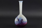 Galle cameo glass Dragonfly Banjo vase