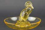 Rene lalique amber Canard ashtray