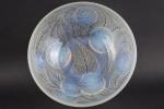 Rene Lalique opalescent dahlias bowl