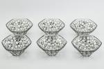 Rene Lalique set of 6 Raisins six pans bowls