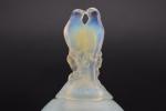 Rene lalique opalescent Tourterelles vase