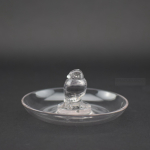 Rene Lalique clear glass moineau ashtray