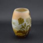 Galle cameo glass poppy design vase