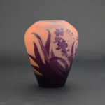 Galle cameo glass floral vase