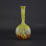 Galle cameo glass sycamore banjo vase