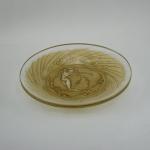 Rene Lalique Une Figurine Et Fleurs Plate