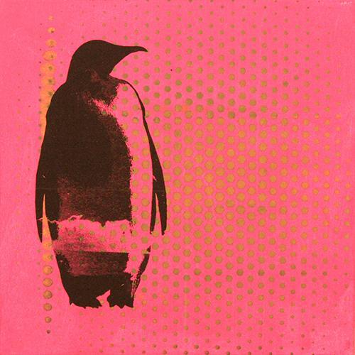 penguin on pink