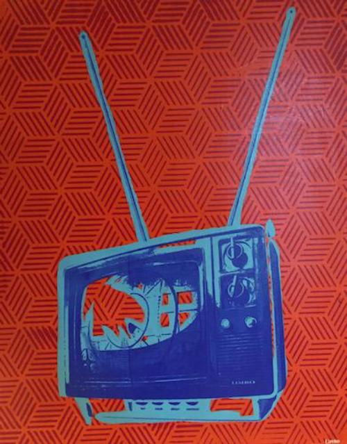 TV on orange