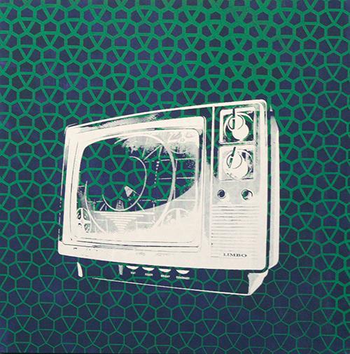 TV on purple
