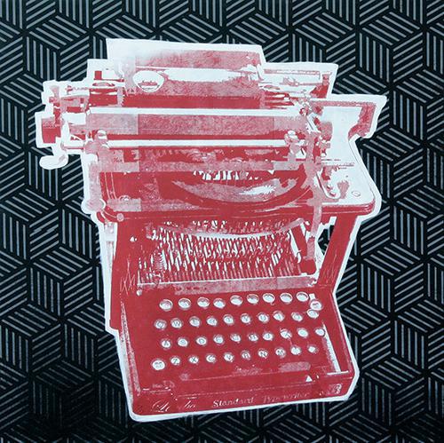 typewriter on black