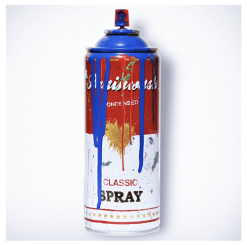 Mr Brainwash can - Blue