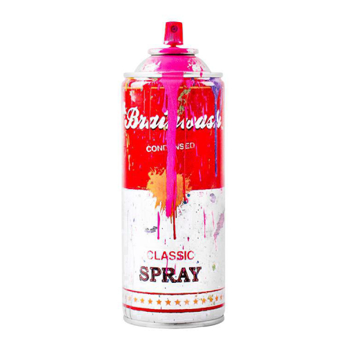 Mr Brainwash can - Pink