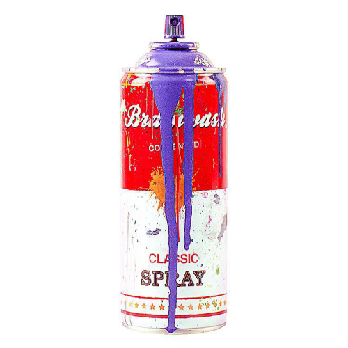 Mr Brainwash can - Purple