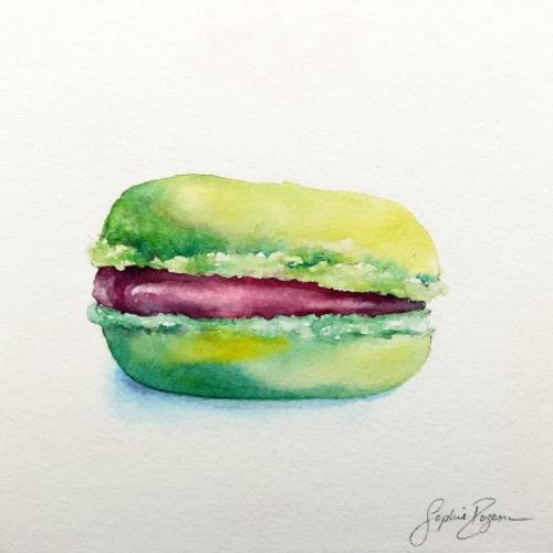Macaron Fraise Basilic