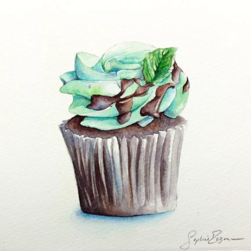Cupcake Choco Menthe